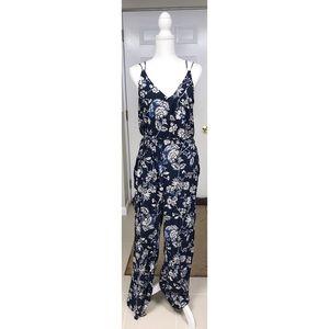 H&M Floral V-Neck Jumpsuit - 12
